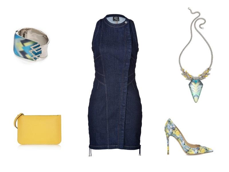 MCQ ALEXANDER MCQUEEN dress | ALEXIS BITTAR bracelet & necklace | VALEXTRA clutch | MARY KATRANTZOU pumps