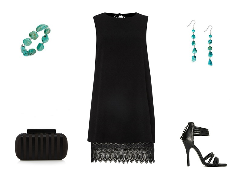 JOHN ZACK dress | AVALONIA ROAD bracelet & earrings | BEN DE LISI clutch | NASTY GAL sandals