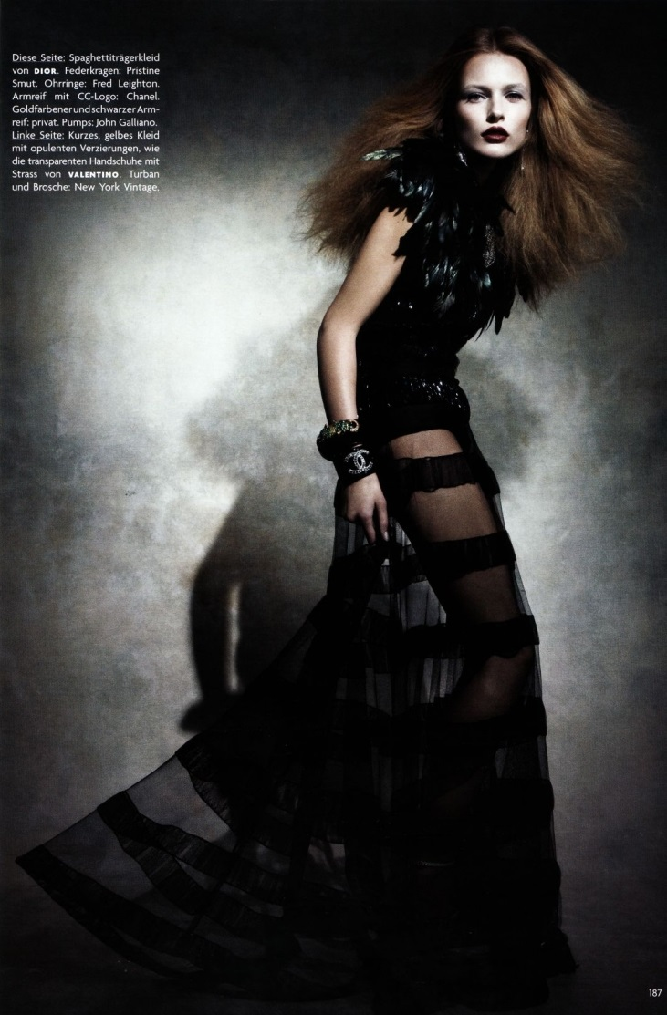 Patrick Demarchelier /  Edita Vilkeviciute  / Vogue Germany / February 2009