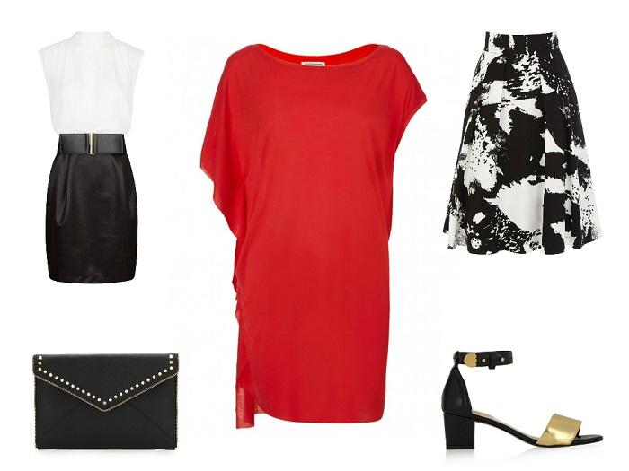 MALENE BIRGER t-shirt | MANGO dress | COAST skirt | REBECCA MINKOFF clutch | KAT MACONIE sandals