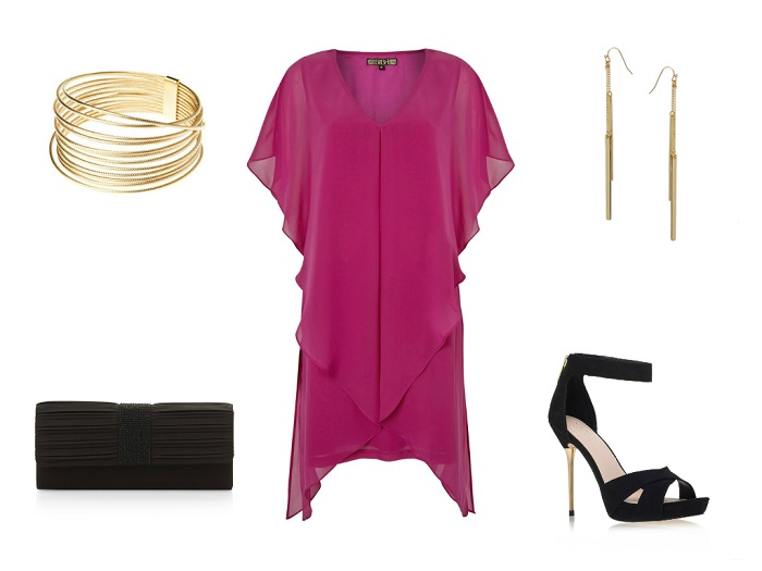 BIBA dress | STORM bracelet | ASOS earrings | GIANFRANCO FERRÉ clutch | CARVELA KURT GEIGER sandals
