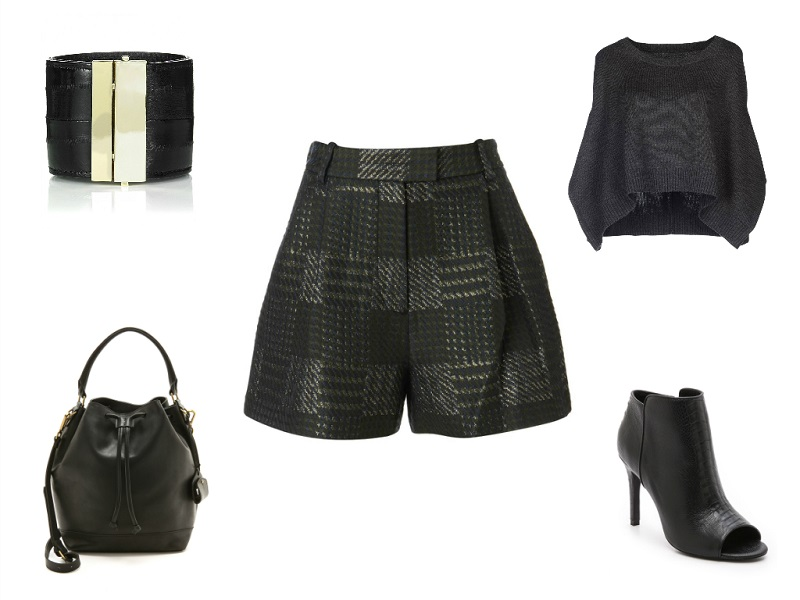 3.1 PHILLIP LIM shorts | LJD MARITHE FRANCOIS GIRBAUD sweater | ESSENTIEL cuff | MADEWELL bag | JOIE booties