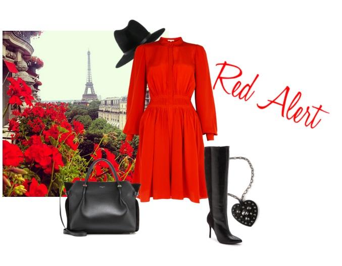 VANESSA BRUNO dress | LANVIN pendant | ALICE & OLIVIA boots | NINA RICCI tote | RAG & BONE hat