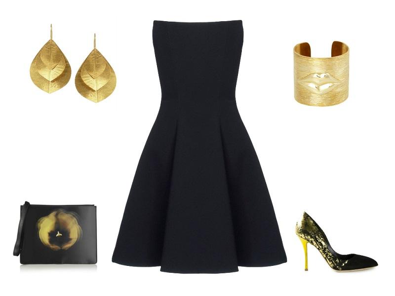 GARETH PUGH dress | KEVIA earrings | KELLY WEARSTLER cuff | RUPERT SANDERSON pumps | CHRISTOPHER KANE clutch