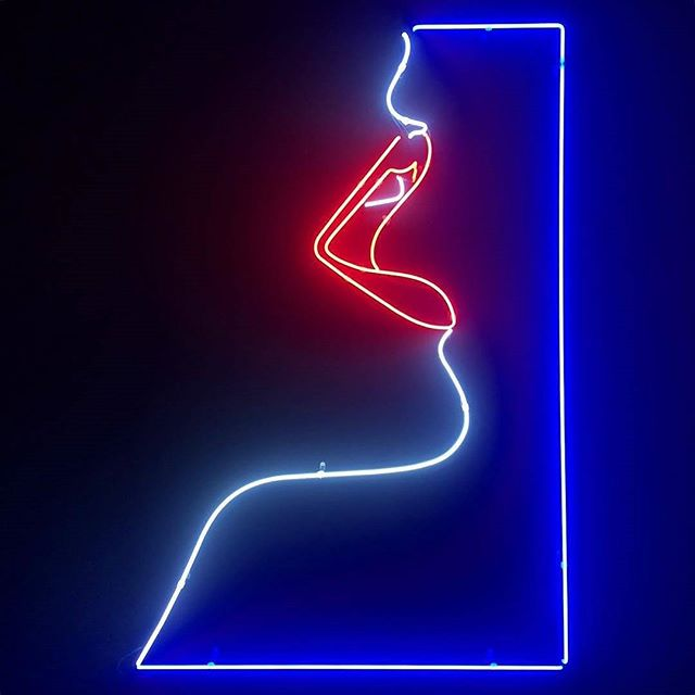 #Repost @malikafavre ・・・ Sneak peek at of 1 of the 3 large scale neons exhibited at @outlineeditions gallery in Shoreditch as part of my solo show.