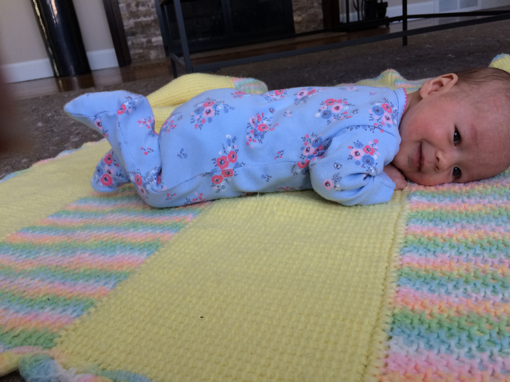 Josie loves her tummy time.