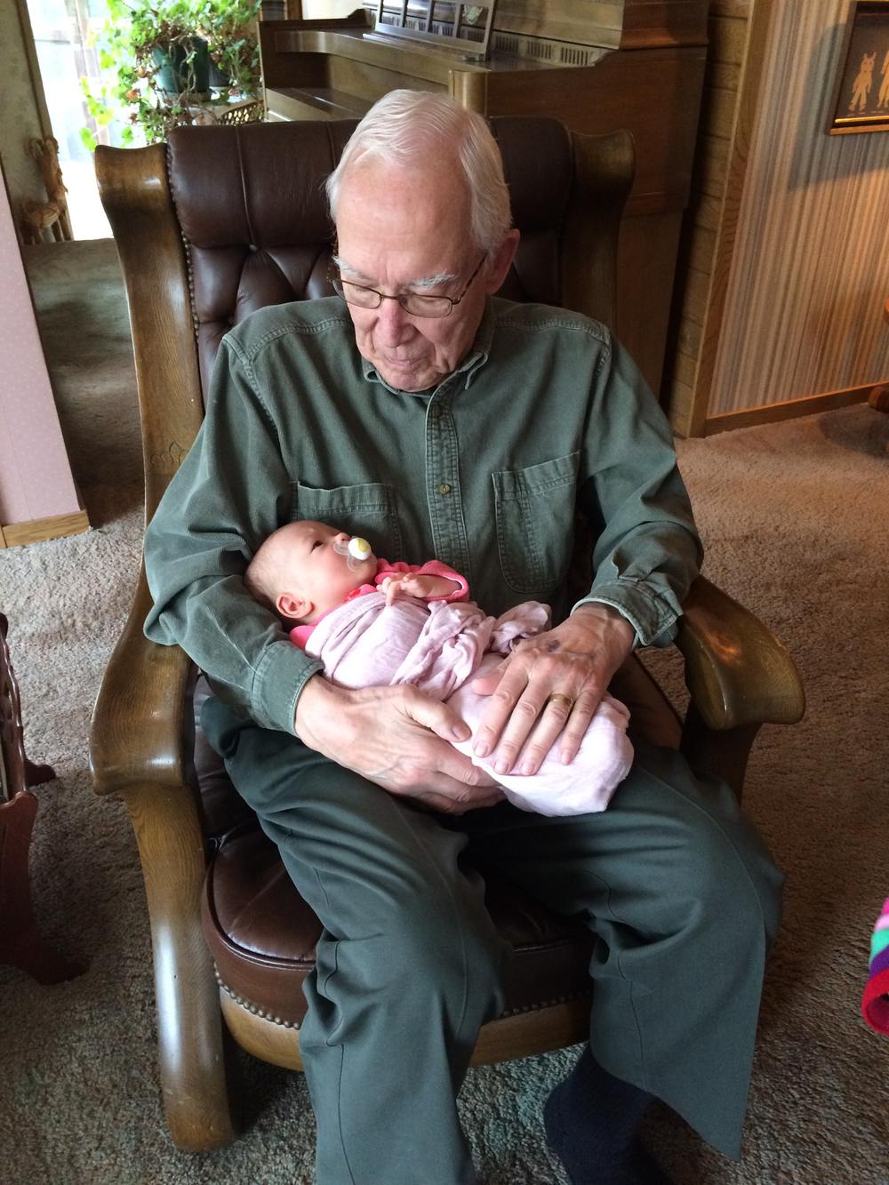 Visiting Grandpa B
