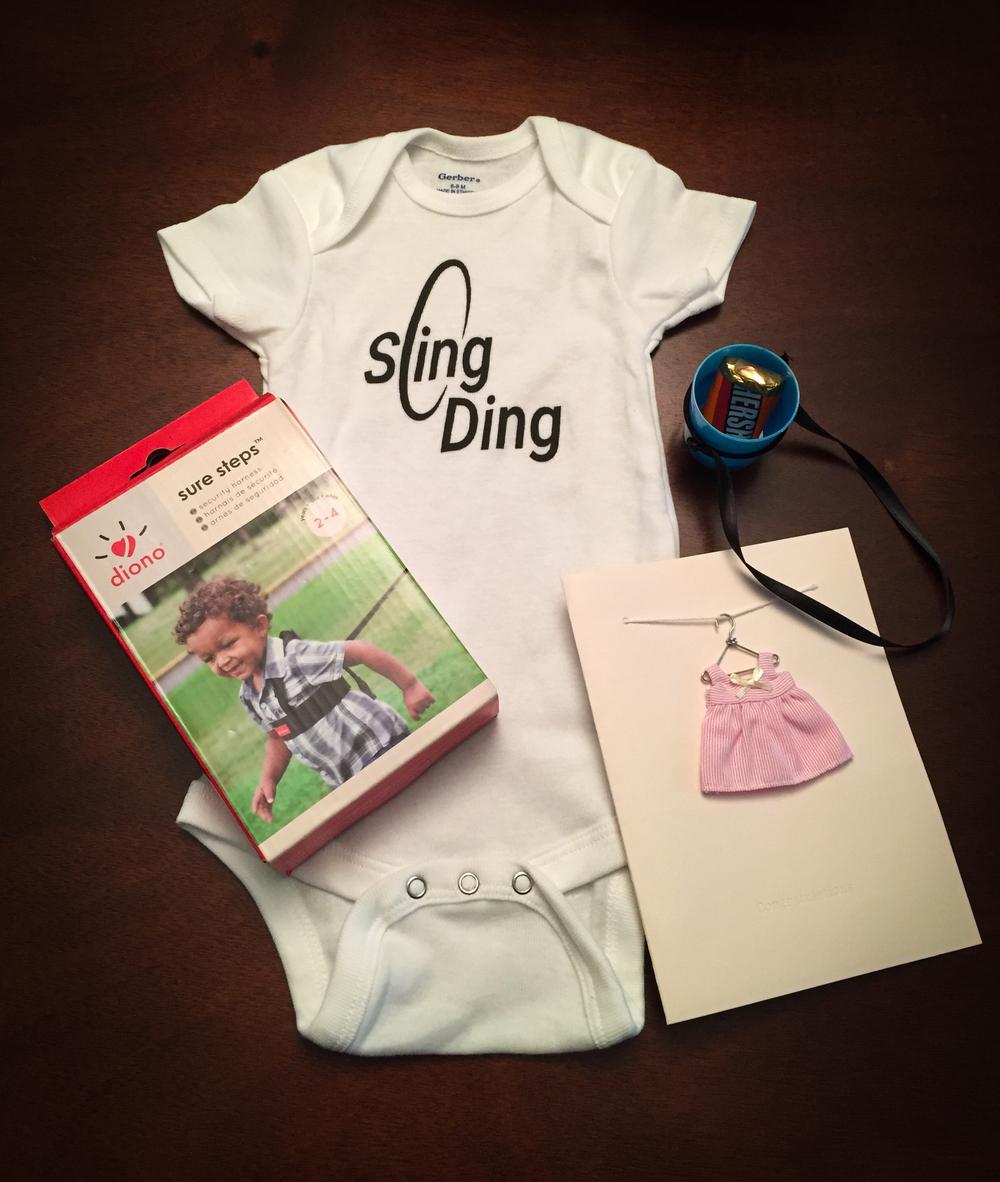 Josie's Sling Ding onesie!
