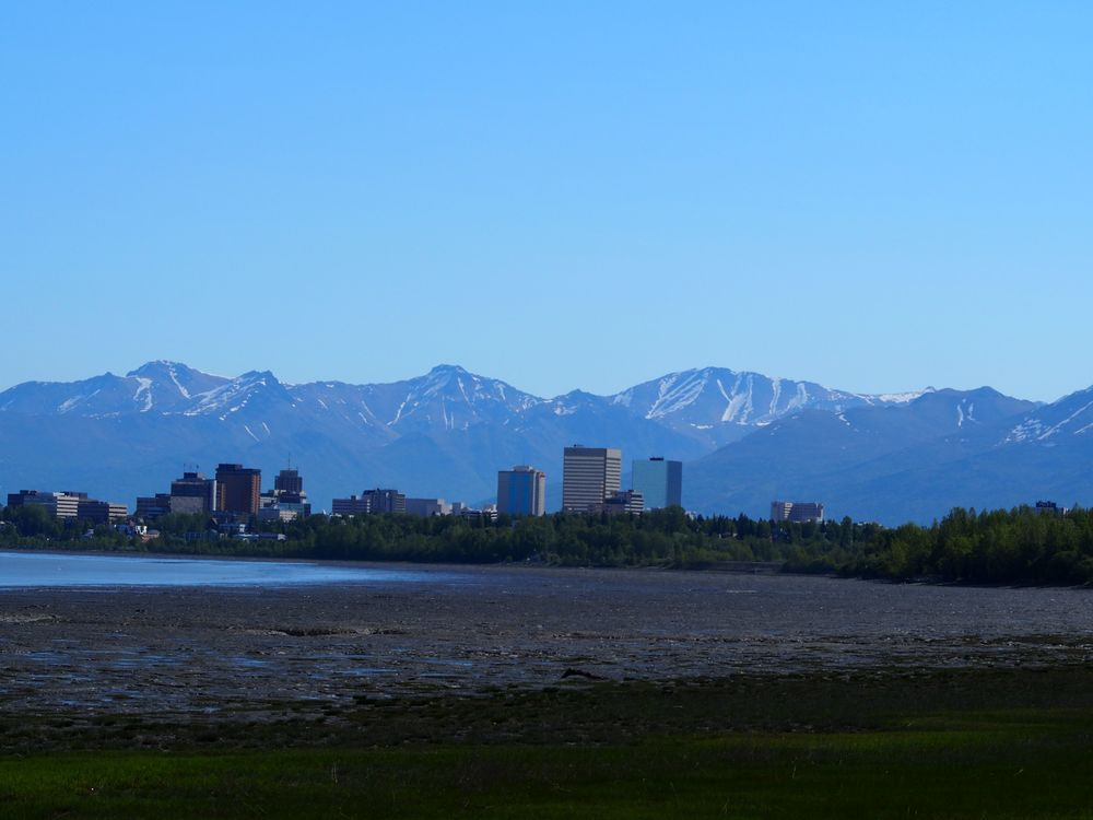 Anchorage from the coastal trail...