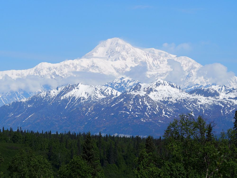 Mt Mckinley, or Denali, as the locals call it. We got lucky because the chances of a clear day are only 33%. Many people come to Alaska and never see the mountain