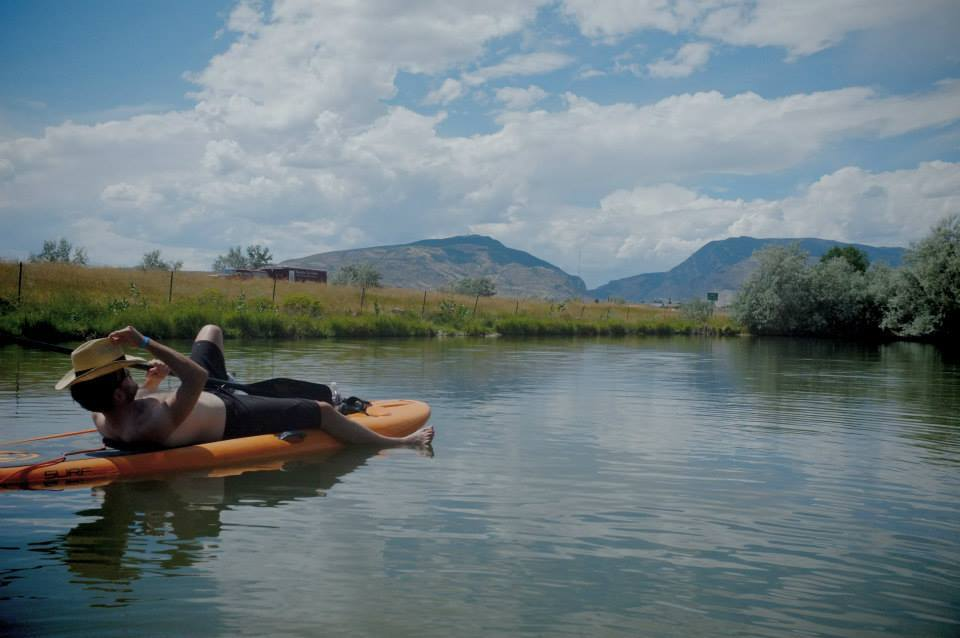I paddle-boarded in Wyoming