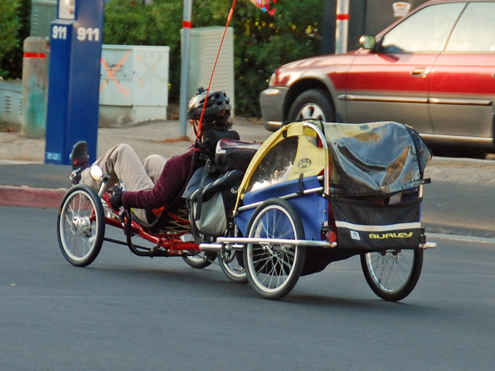 Recumbent bike and trailer