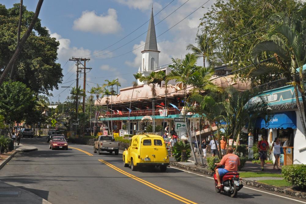 Ali'i Drive, downtown Kailua-Kona