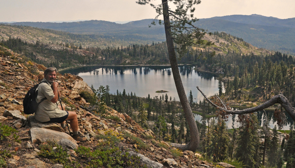 Cliff at Deer Lake on the PCT