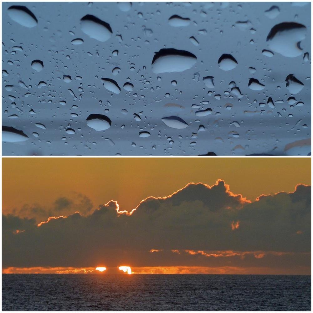 Local rain & Hawaiian sunset