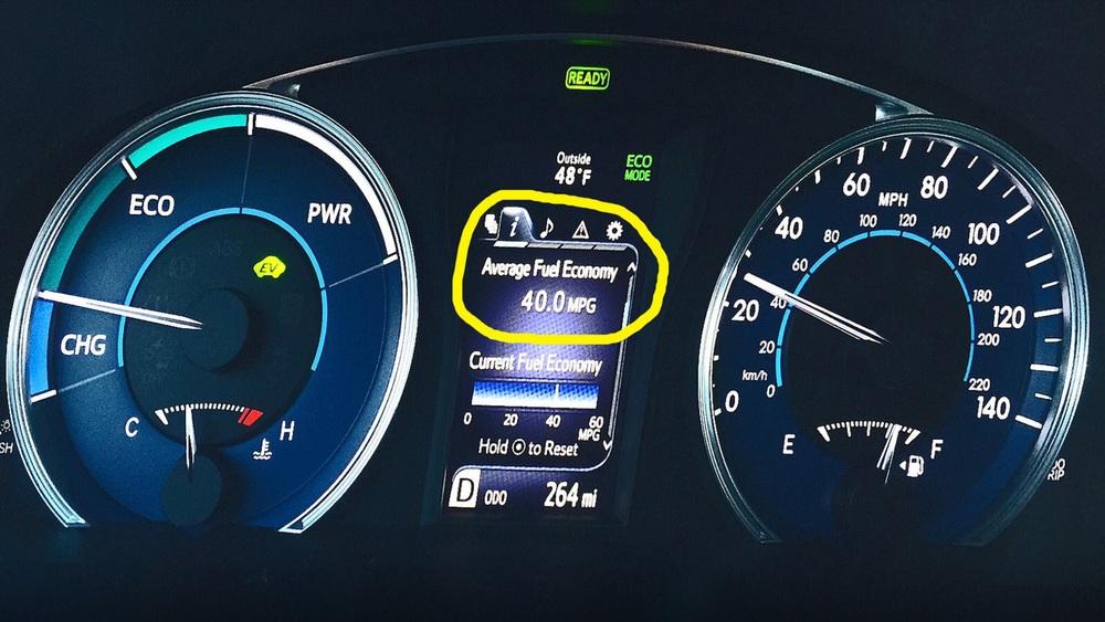Average 40 mpg fuel economy