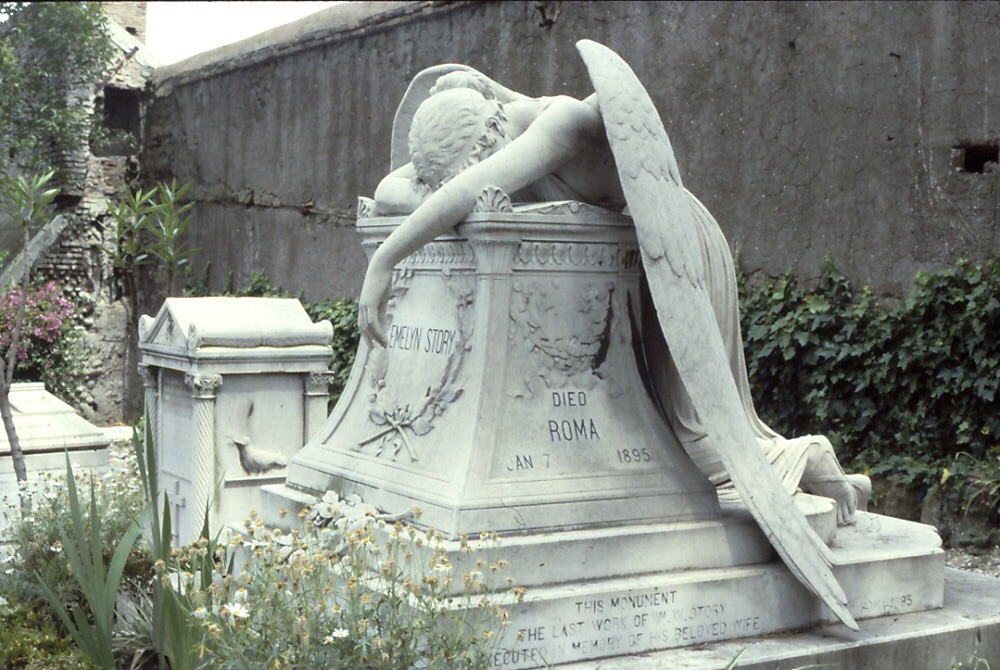 Emelyn Story memorial (Wikipedia photo)