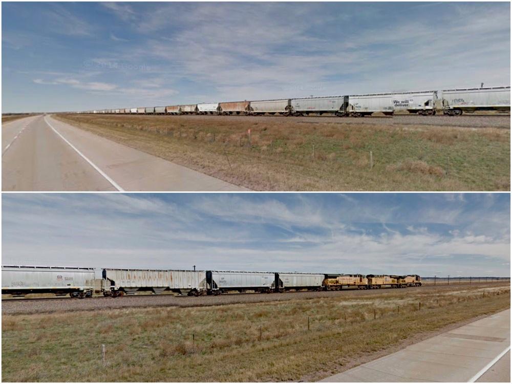Mile long Grain Train
