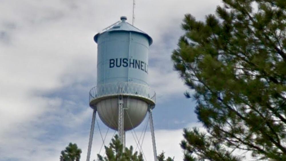 Municipal Water Tower identifies each town