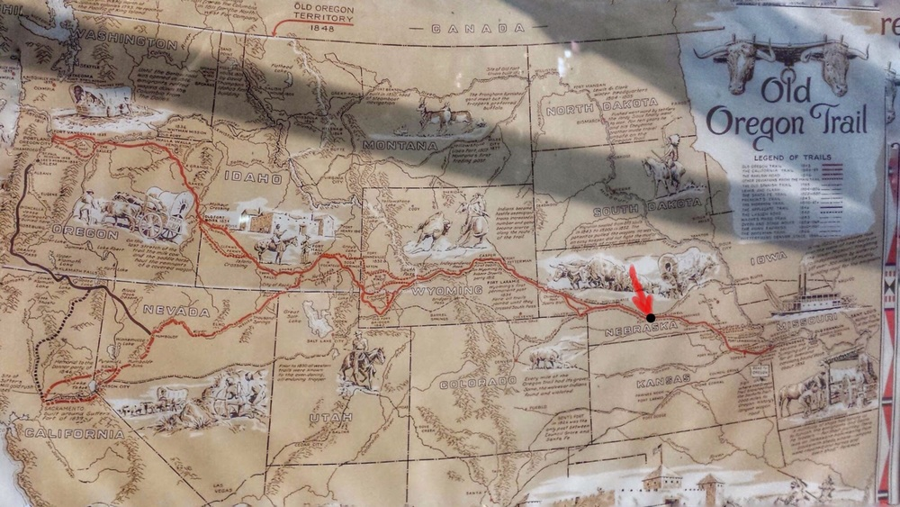 Gothenburg on the Oregon, California, and Pony Express Trails