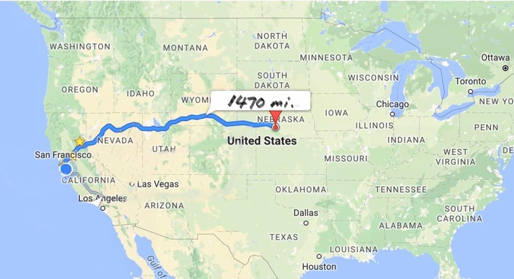 Halfway across the USA!