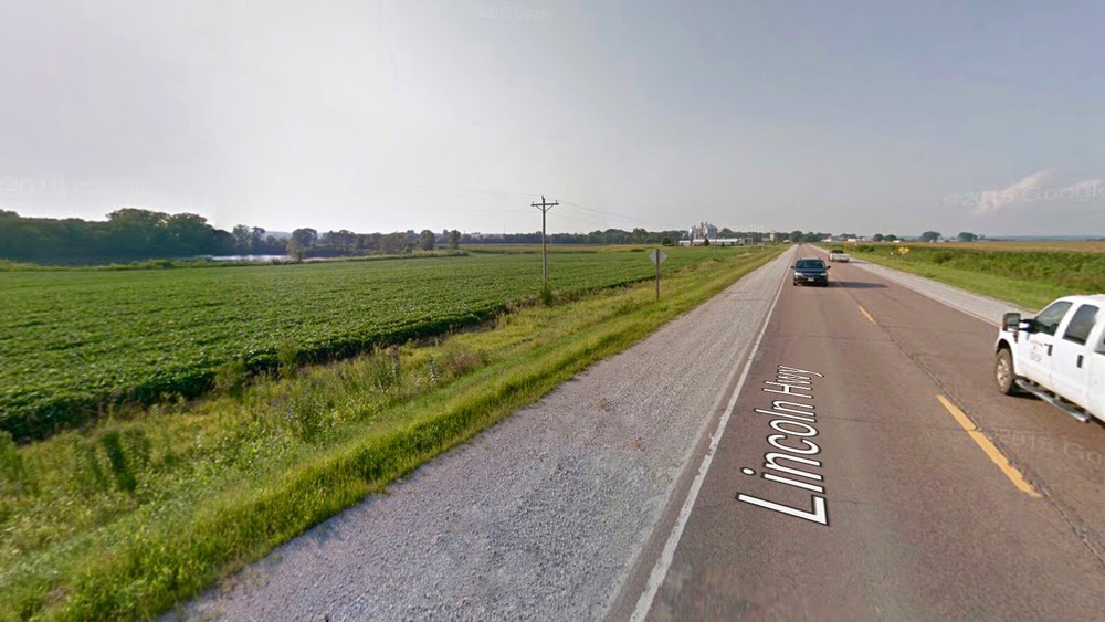 Lincoln Highway and Cornfields