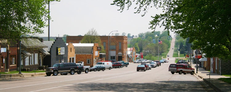 Main Street becomes a Country Road
