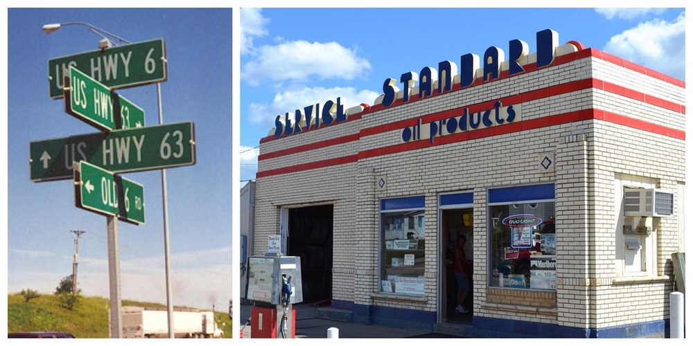 Old signs and service stations