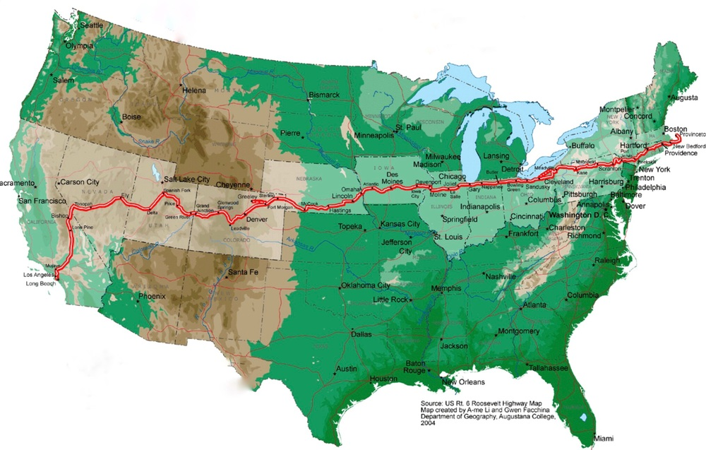 Route 6 - The Longest Transcontinental Highway