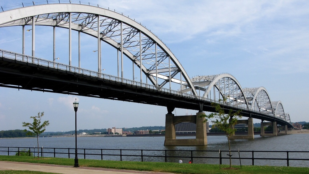Mississippi River and Centennial Bridge