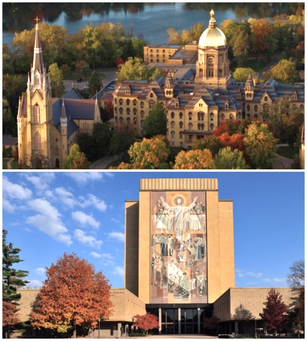 Notre Dame Campus and its Touchdown Jesus