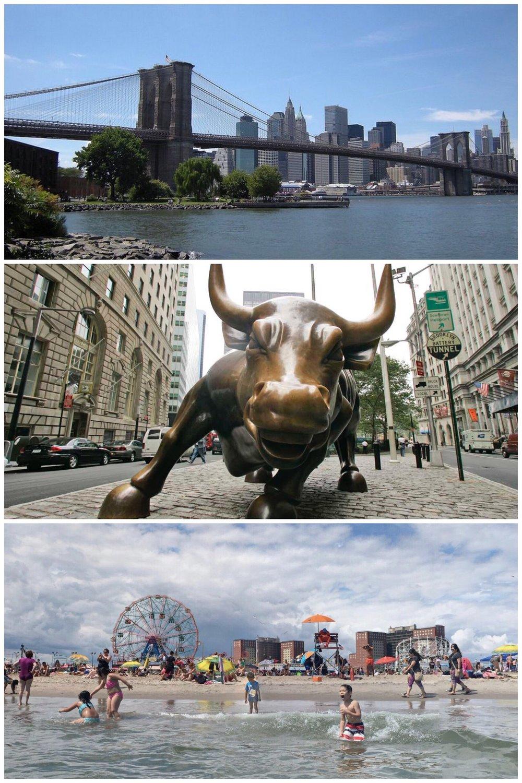 Brooklyn Bridge, Wall Street, and Coney Island
