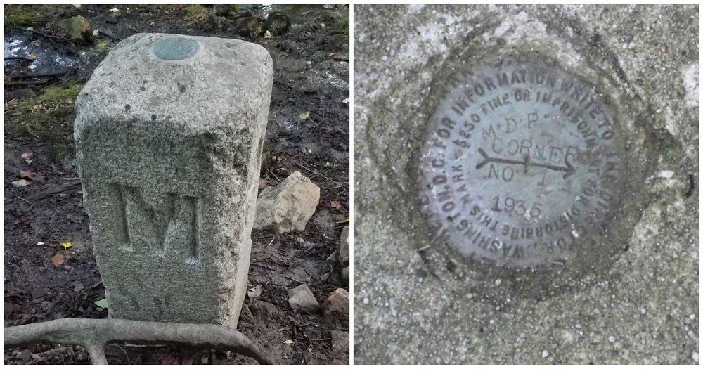 Corner Monument at Maryland-Delaware-Pennsylvania border