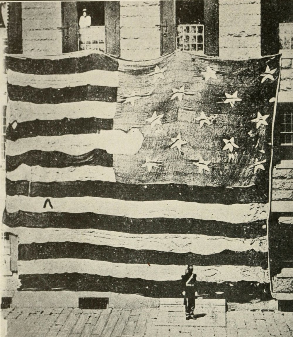 Original American Flag that survived the battle