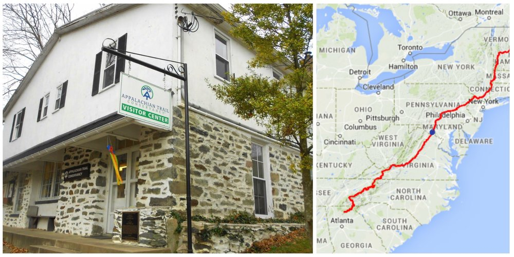 Appalachian Trail HQ and Route