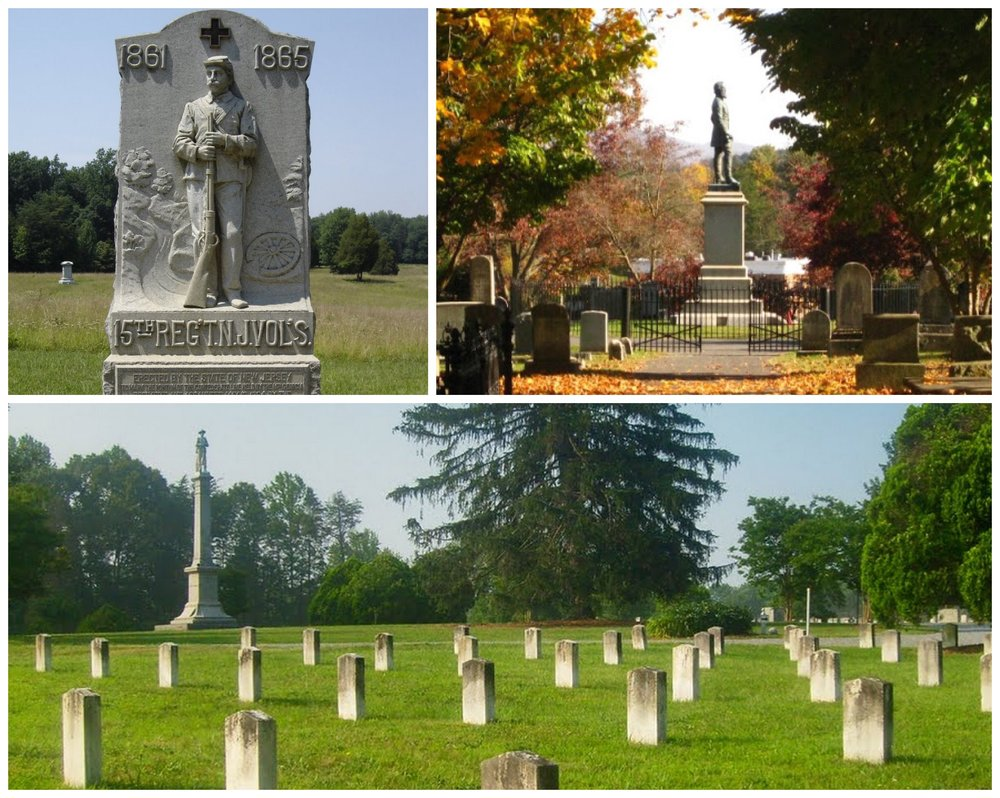 Civil War Memorials and Cemeteries