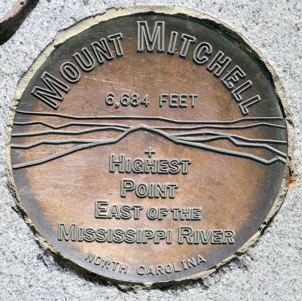 Survey Marker on Mt. Mitchell