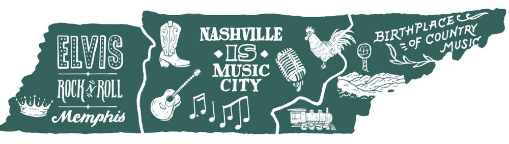 Tennessee's 3 regions & music roots: Memphis, Nashville, and Knoxville