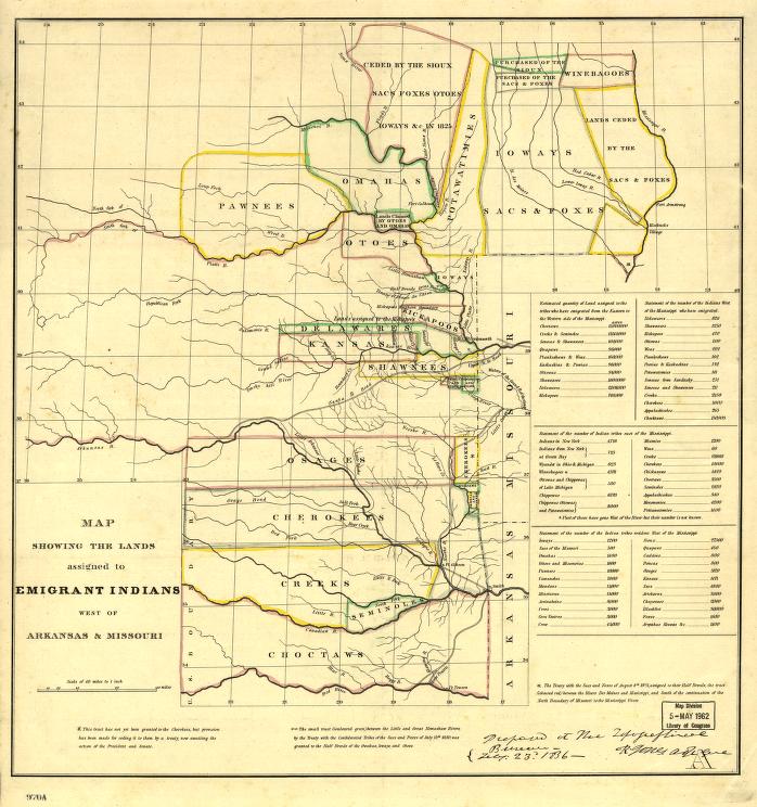 Indian territory 1836