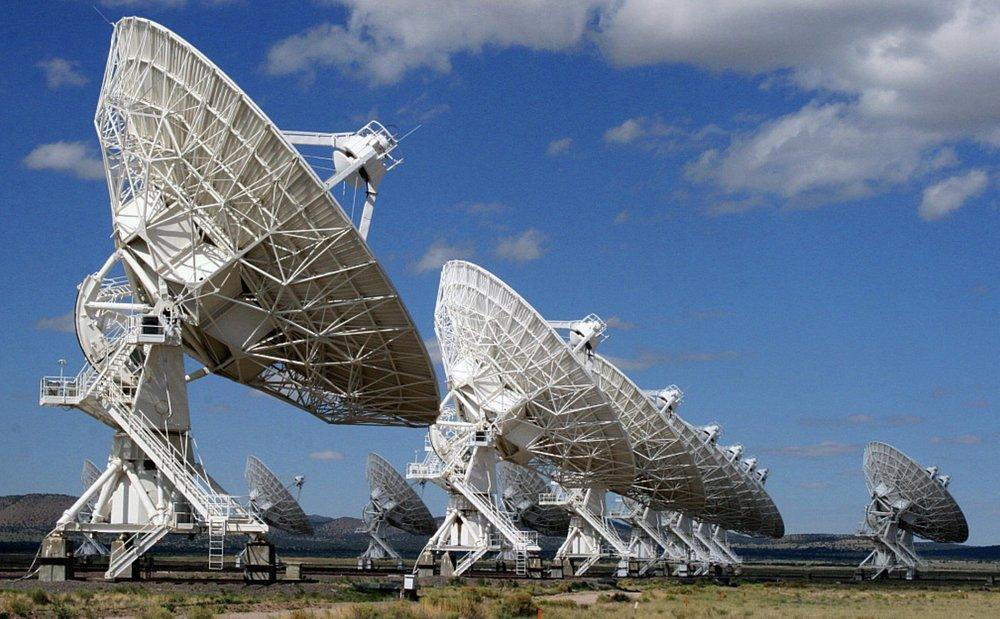Radio Telescopes seeking extraterrestrial life- Sandia, NM