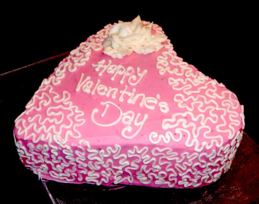 Valentines Day cornelli lace cake
