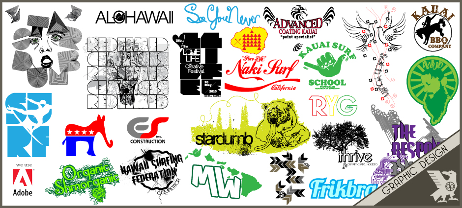 Custom Graphic Design.  One of a kind.  Kauai, Hawaii. Doxa Print
