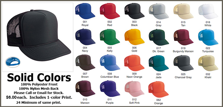 Custom Trucker Hats Otto Cap Solid