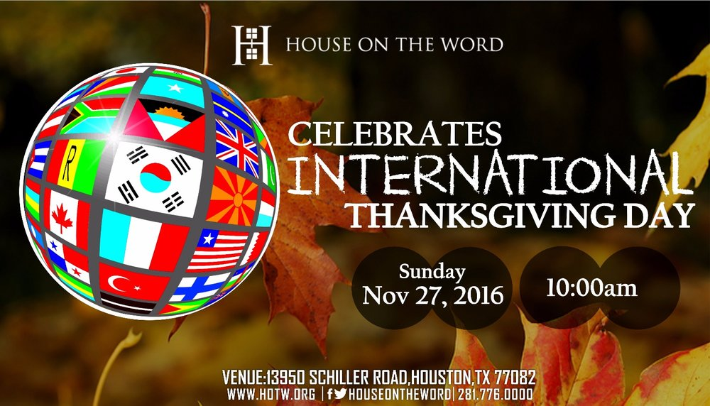 International Day of Thanksgiving - November to Remember Grand Finale Celebration
