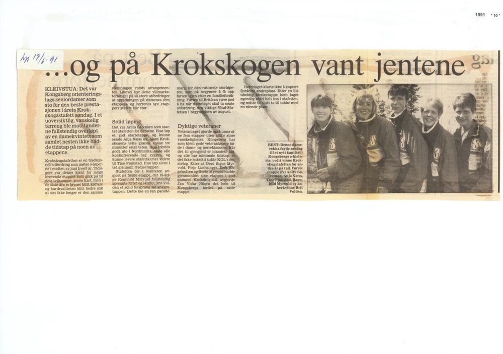 Budstikka 17.juni 1991 og  Krokenarkivet