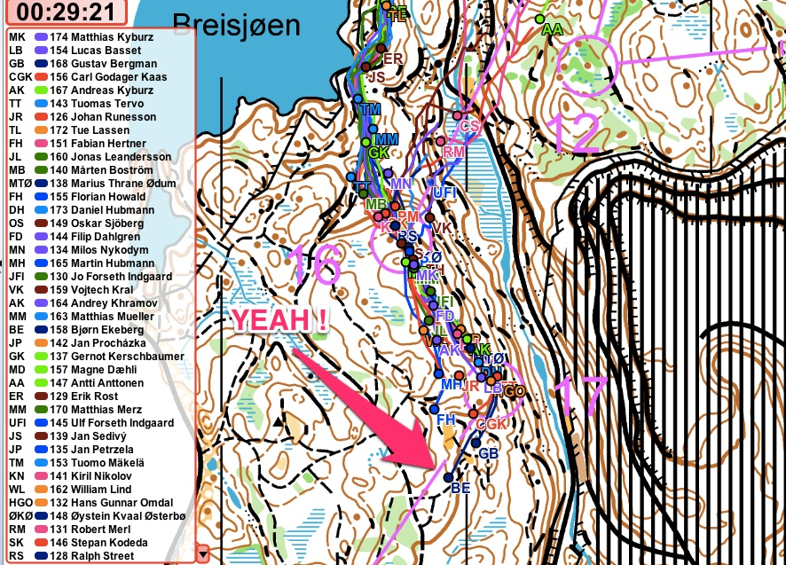 Bjørn Ekeberg from the organizers, IL Tyrving, came 3rd in the World Cup in Oslo June 2013.     Tracking is fun - it makes orienteering social and prestigious!