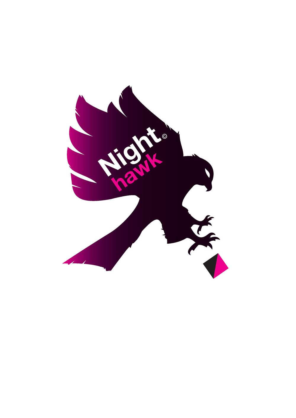 Night Hawk logoen. Trykk for PDF.