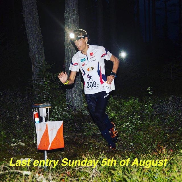 Last ENTRY Sunday 5th of August for Men, Women, Boys, Girls & Masters. #10mila #jukola #oringen #suunistus #orientering #orienteering #orienteringsløb #nighthawkrelay
