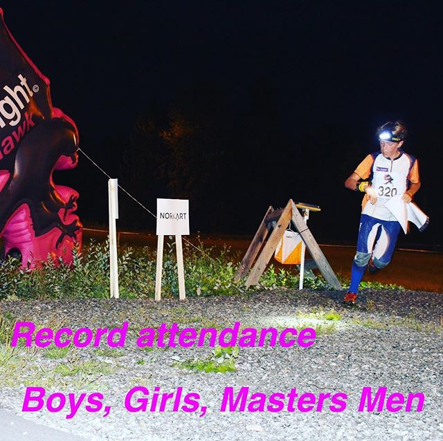Record attendance in the classes Boys, Girls and Masters Men @nighthawkrelay #jukola #oringen #tiomila #orientering #orienteering #orienteringsløb #suunistus #25manna #nighthawkrelay @norkart_as our sponsor