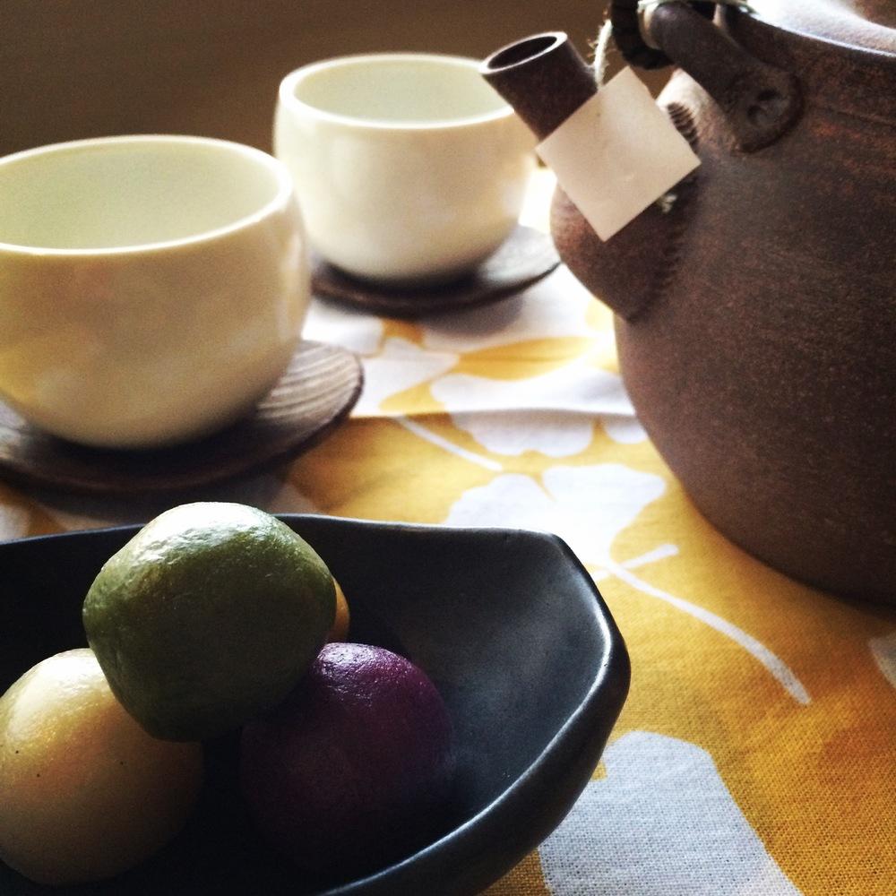 Wagashi and tea